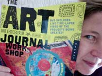 traci holding her book the Art Journal Workshop