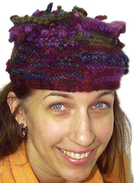 Four Panel Funky Hat Pattern Knitted Traci Bunkers Bonkers