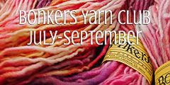 TraciBunkers.com - Bonkers Yarn Club, July-September