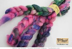 TraciBunkers.com - Superwash Sparkle Spinning Fiber in Downtown Carousel