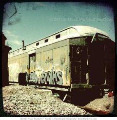 TraciBunkers.com-Graffitied Santa Fe Train