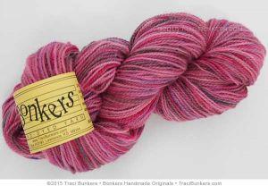 TraciBunkers.com - 2-ply Wool Yarn in Flamingo Fest