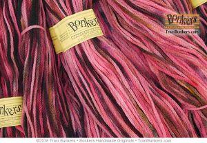 TraciBunkers.com - Hand-dyed Cordelia Yarn: Flamingo Fest