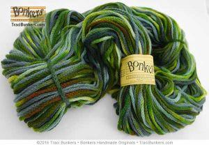 TraciBunkers.com - Hand-dyed Cordelia Yarn: Funky Green