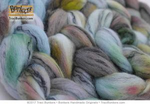 TraciBunkers.com - Hand-dyed Dusky TnM Spinning Fiber in Dorset Deletrius