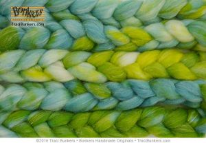 TraciBunkers.com - Superwash Sparkle Spinning Fiber in Limeola