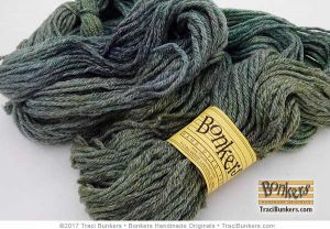 TraciBunkers.com - Hand-dyed Touch of Frost Worsted-Weight Yarn in Funky Green