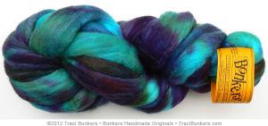 TraciBunkers.com - Hand-dyed Silk 'n Merino Spinning Fiber: Dragonfly