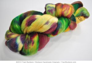 TraciBunkers.com - Hand-dyed Silk 'n Merino Spinning Fiber: Harvest