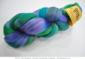 TraciBunkers.com - Hand-dyed Silk 'n Merino Spinning Fiber: Green Williwaw