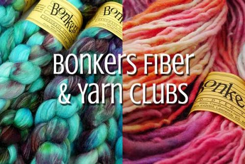 TraciBunkers.com - Bonkers Fiber & Yarn of the Month Clubs