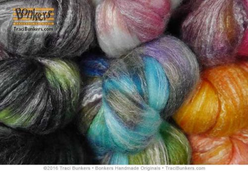 TraciBunkers.com - Hand-dyed Bamboo \\\'n Merino Spinning Fiber
