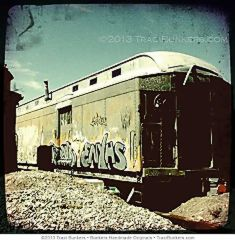 TraciBunkers.com-Graffitied Santa Fe Train