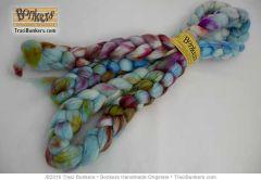 TraciBunkers.com - Hand-dyed Superwash Sparkle Spinning Fiber in Robin Egg Surprise