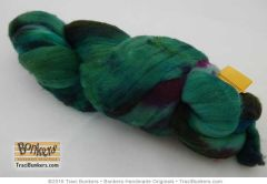 TraciBunkers.com - Superwash Merino Spinning Fiber in Sea Jewels