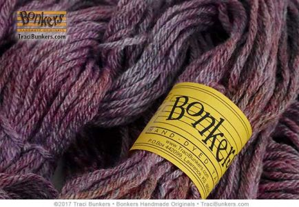 TraciBunkers.com - Touch of Frost Hand-dyed Yarn in Wineberry