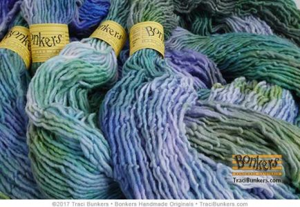 TraciBunkers.com - Hand-dyed Sexy Singles Worsted in Monet's Water Lilies