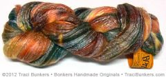 TraciBunkers.com - Hand-dyed Bamboo \'n Merino Spinning Fiber: Harvest